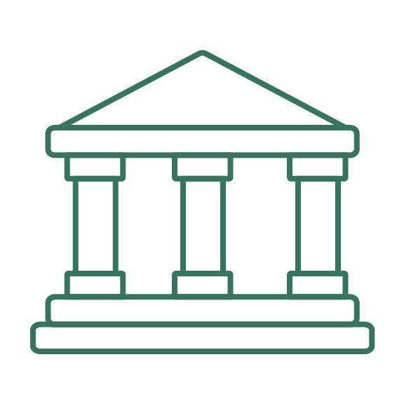 Ancient Greek architecture building face