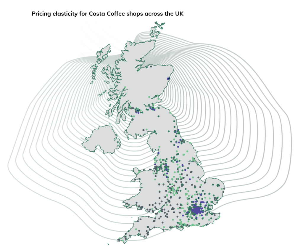 Uk map in a transparent background