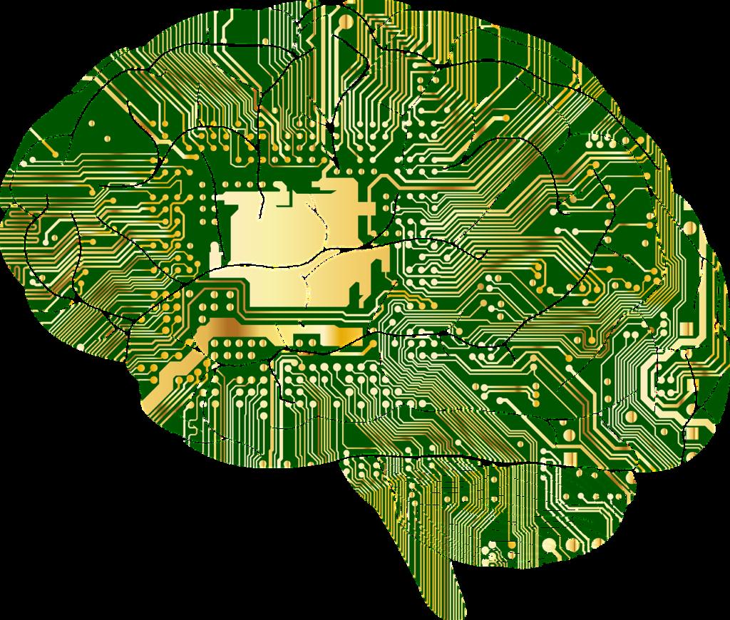 Motherboard in brain shape